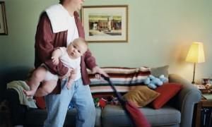 dad doing housework