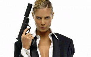 women with gun bond style